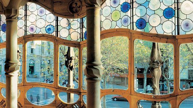 Vidrieras de la Casa Batlló.