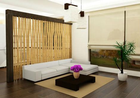 Bambú para separar ambientes.