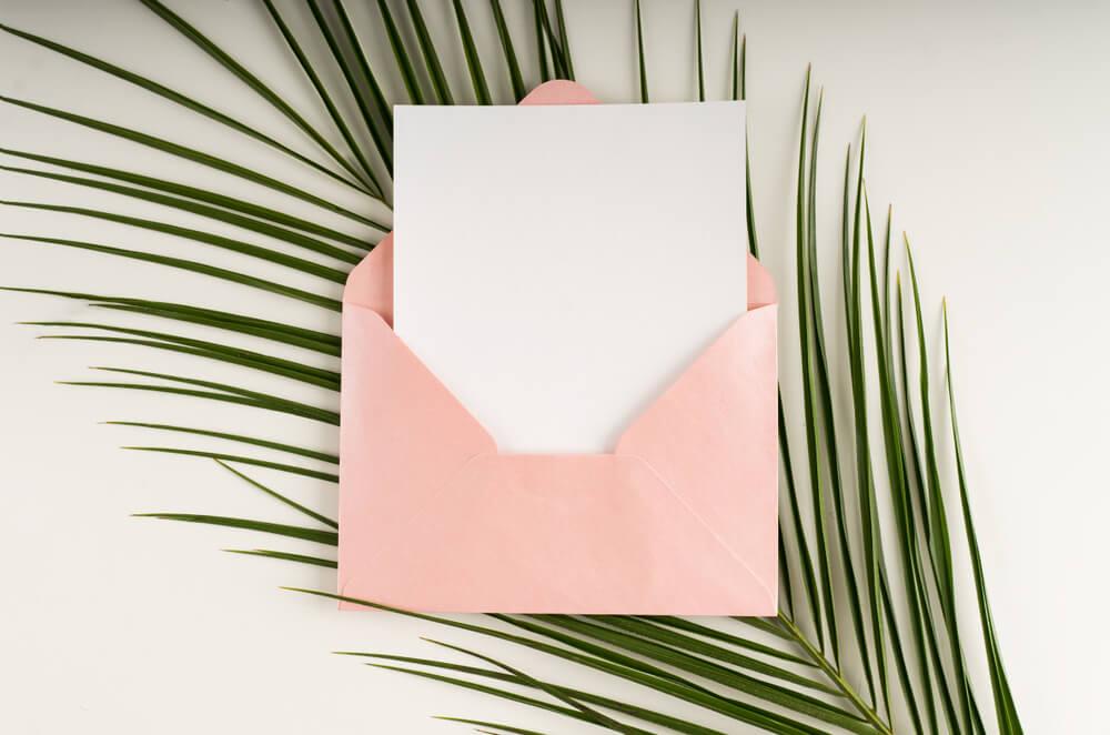 Carta con mensaje.