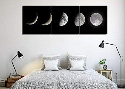 Cuadros de lunas para el dormitorio.