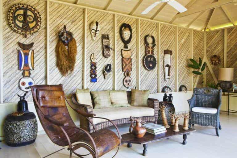 Una casa al estilo Memorias de África: decoración 100 % salvaje