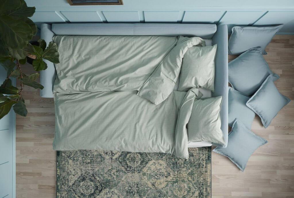 Sofá-cama HOLMSUND de IKEA.