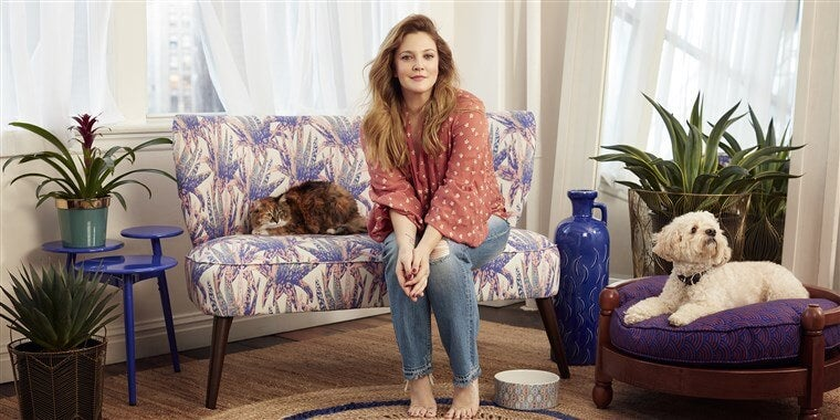 Decoración Drew Barrymore.