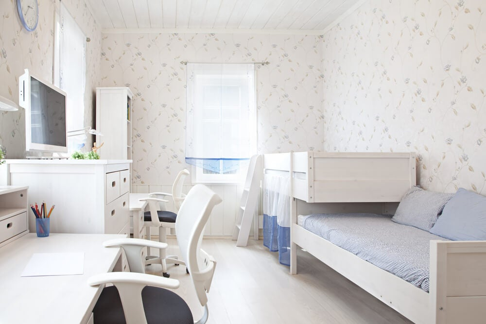 Dormitorio infantil doble.