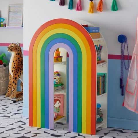 Estantería arcoíris de Flower Kids.