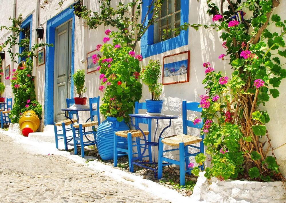 Exteriores de las casas mediterráneas.