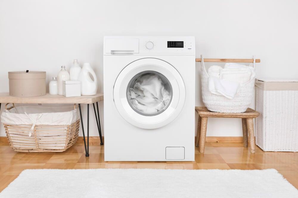 Muebles auxiliares para una lavandería.