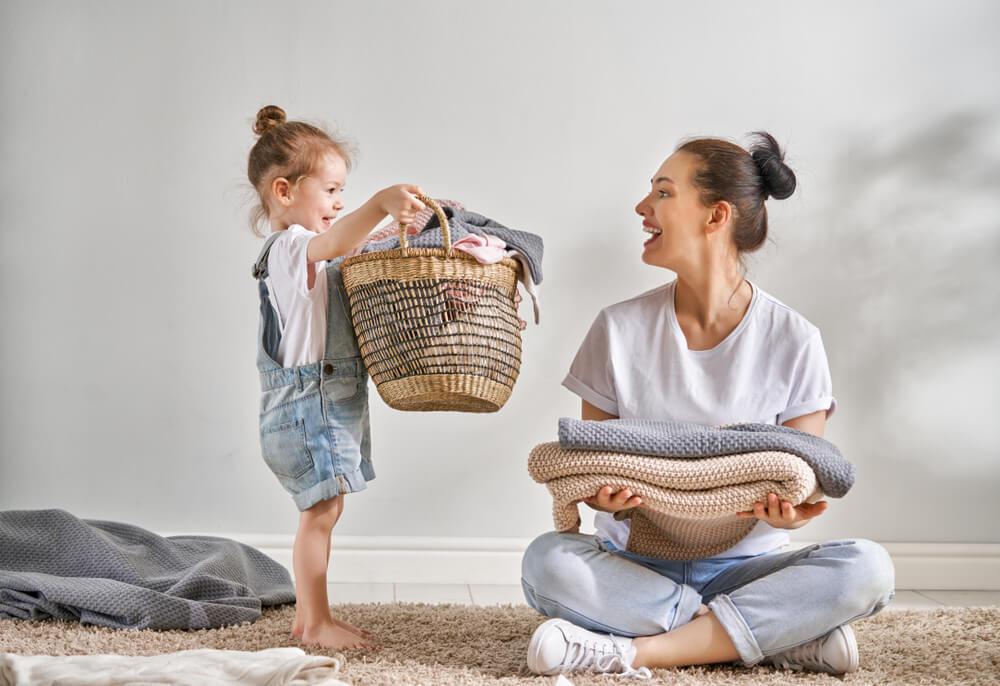Tareas del hogar en niños.