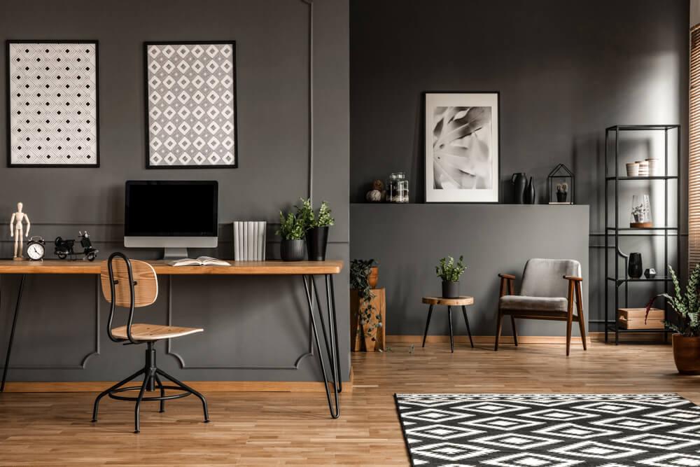 Oficina gris.