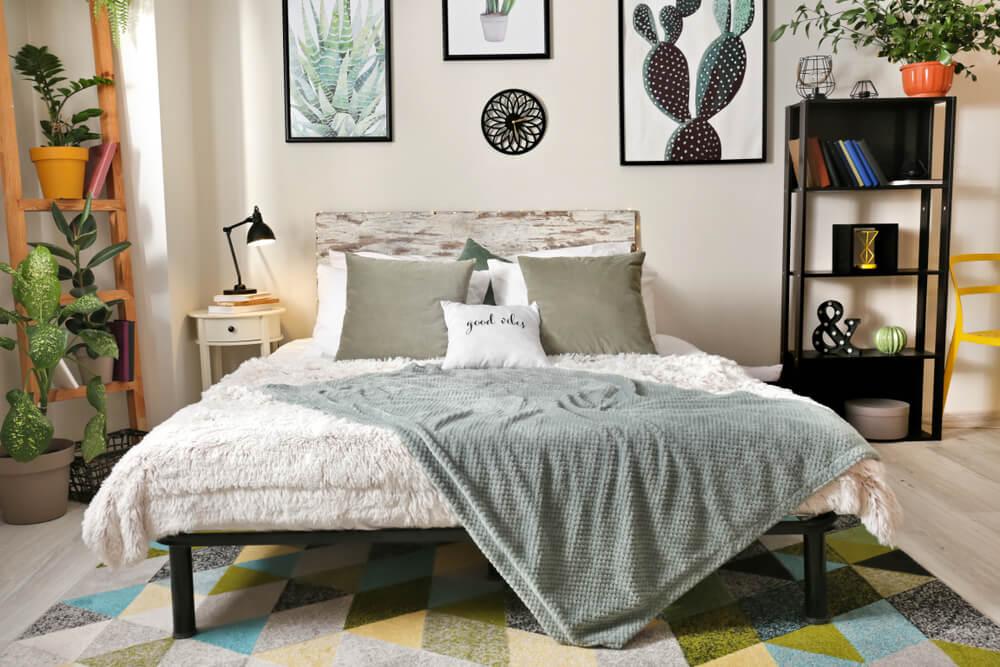 Textiles para el dormitorio.