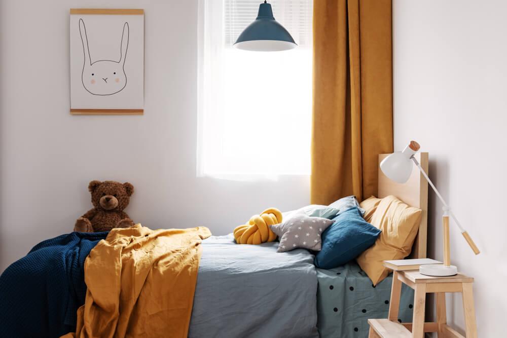 Colores para un dormitorio infantil.