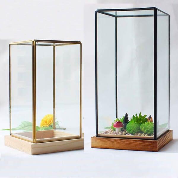 Jardinera de cristal.