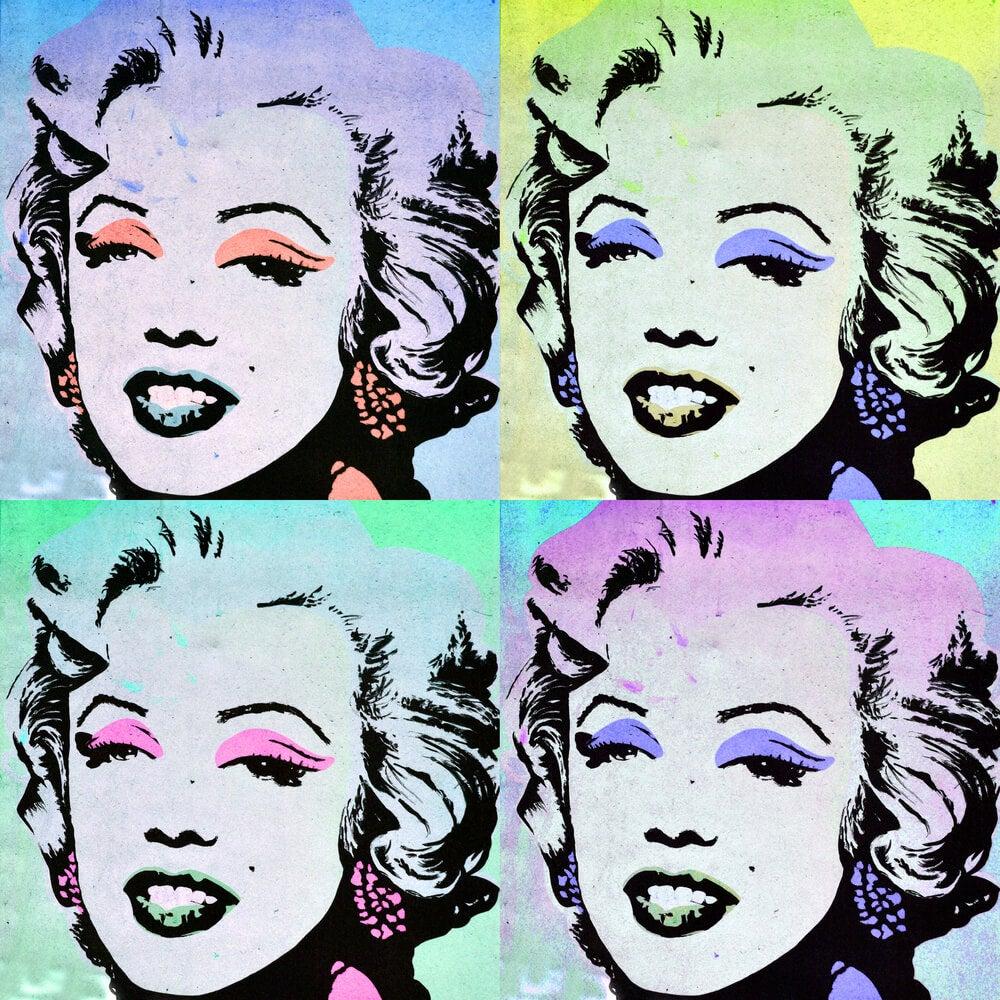 Cuadros de Marilyn Monroe.
