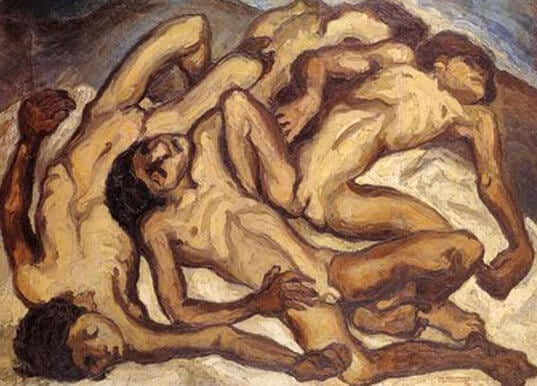 Los niños muertos, de Oswaldo Guayasamín.