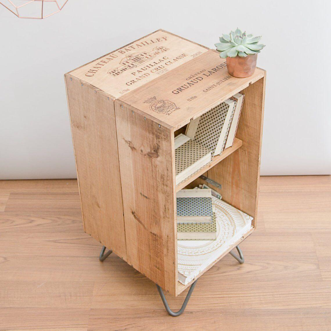 Decorar el hogar con cajas de vino