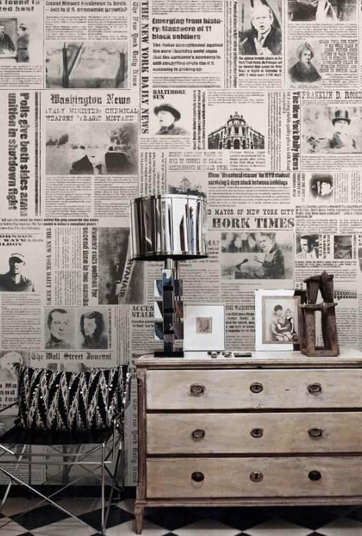 Cómo decorar con periódicos