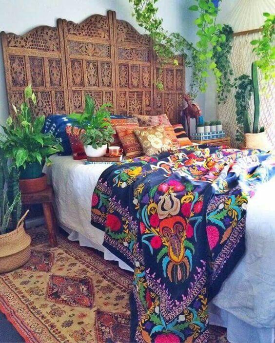 Decorar el dormitorio con el estilo étnico andino