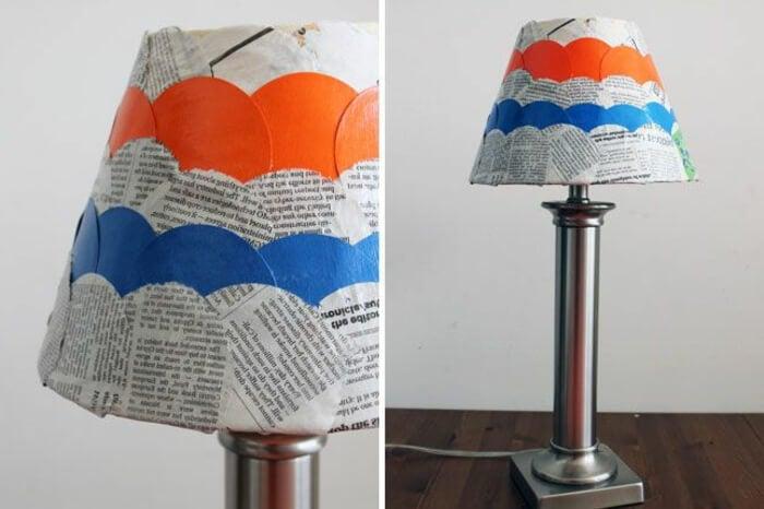 Forrar lámpara con periódico