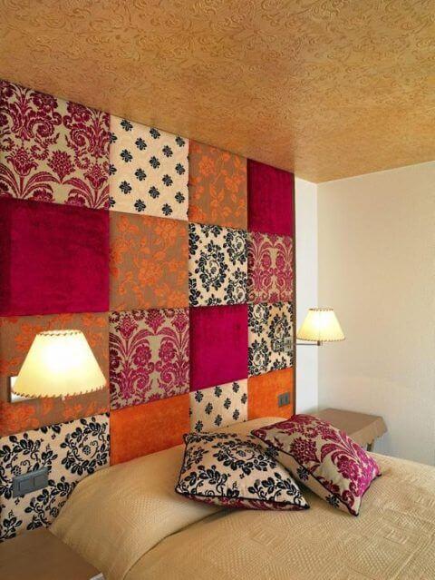 Decorar las paredes con telas