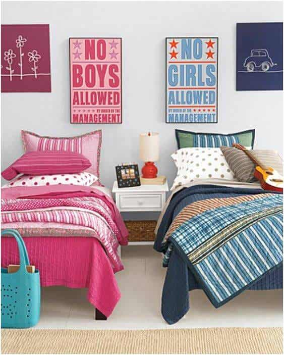 Decorate shared rooms