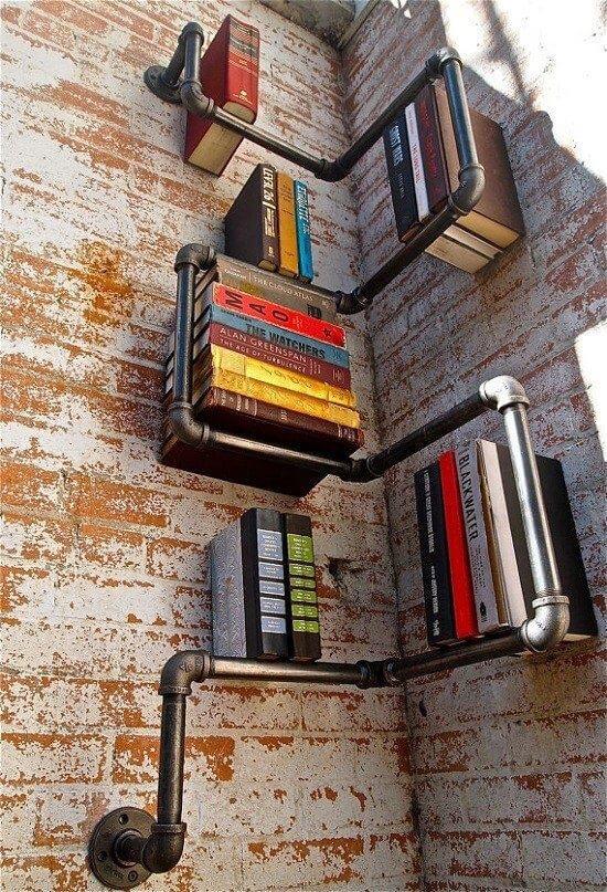 Libreros originales: con tuberías