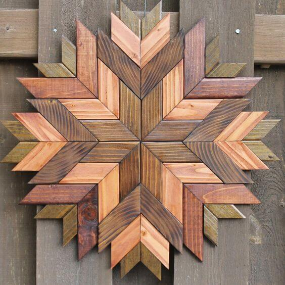 Murales de madera con temática vegetal