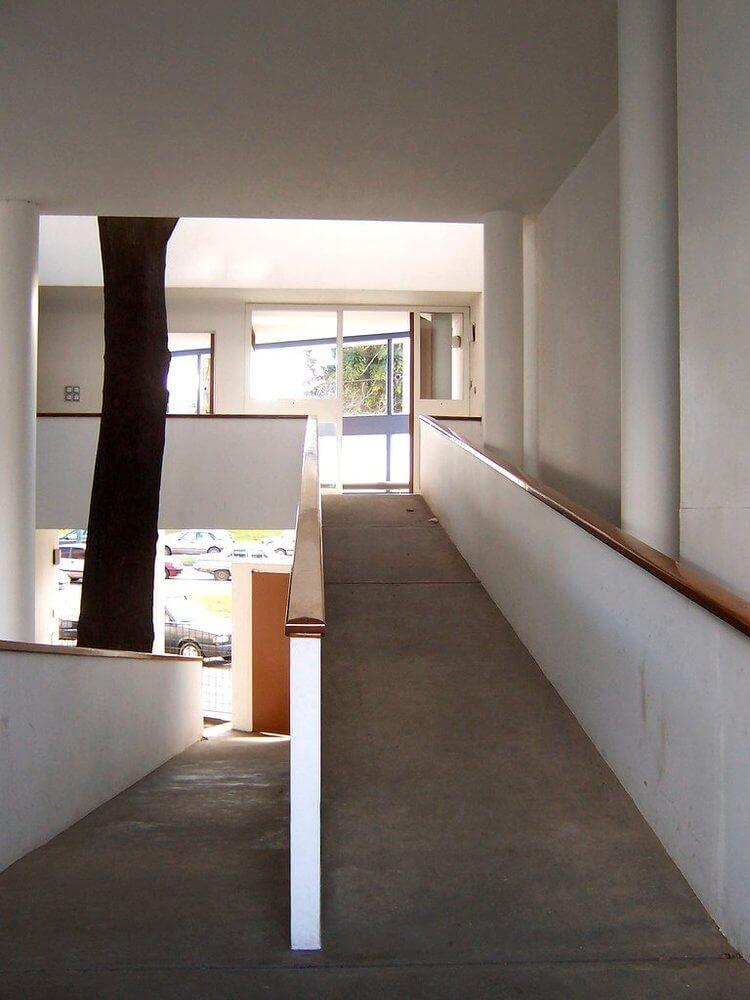 Rampa de casa diseñada por Le Corbusier en La Plata