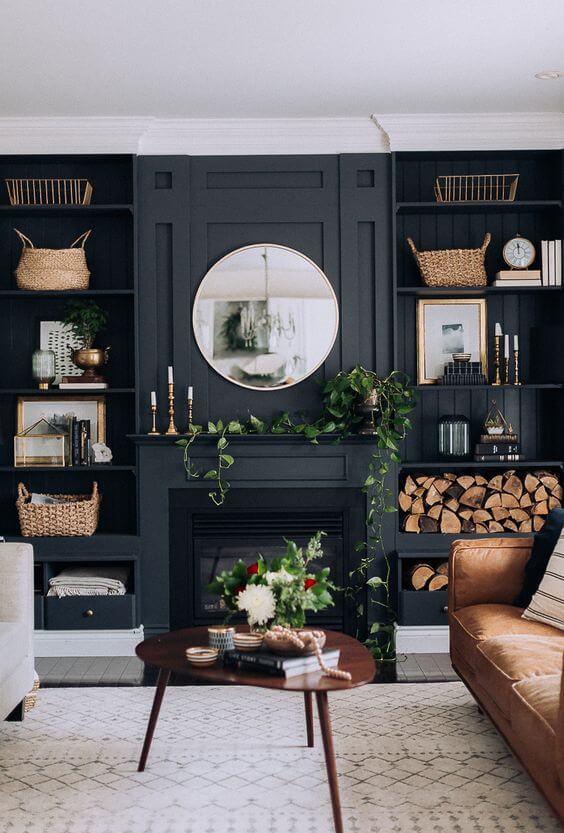 Salón en negro