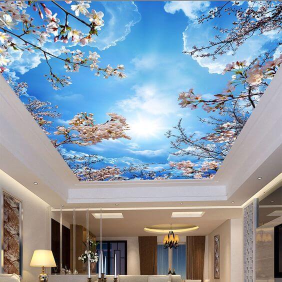 Pintura y decoración para techos: vinilo