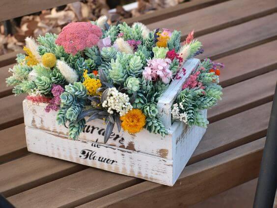 Arreglos con flores secas