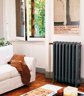 Pinta los radiadores para cambiar la decoración