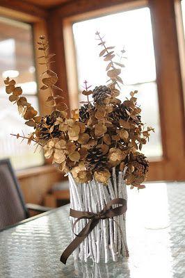 Arreglos con flores secas: topiario