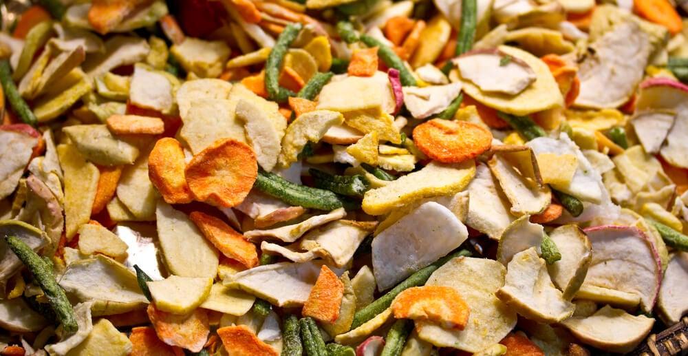 Secar frutas y verduras para decorar