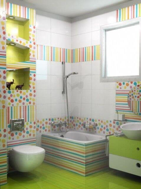 Colores en el baño