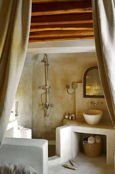 El baño de la casa de campo