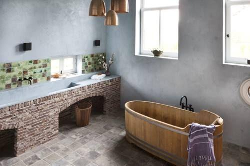 El baño ideal para una casa rural
