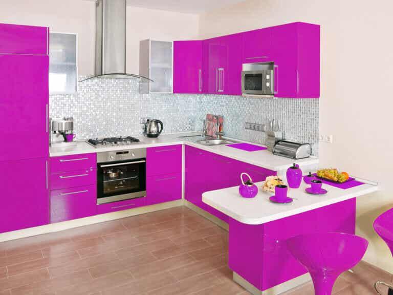 El color magenta en la decoración del hogar