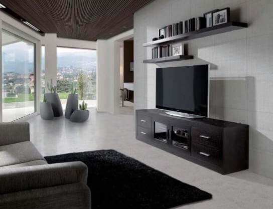 Mueble de madera wengué