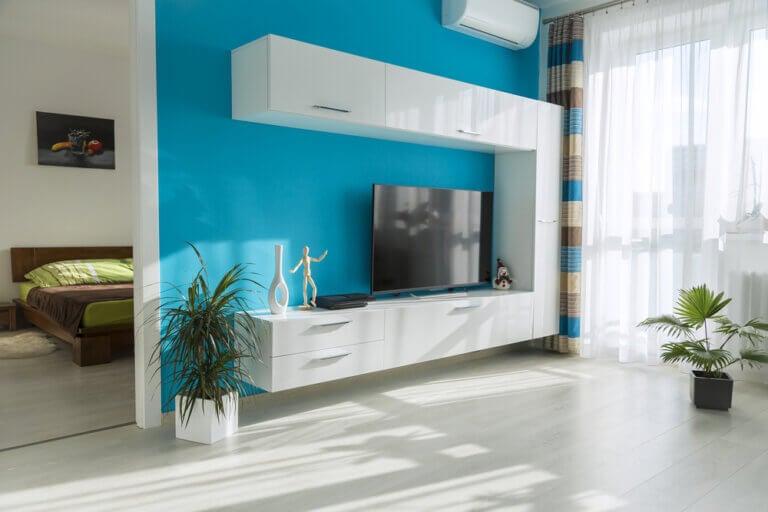 La combinación de los colores turquesa y blanco