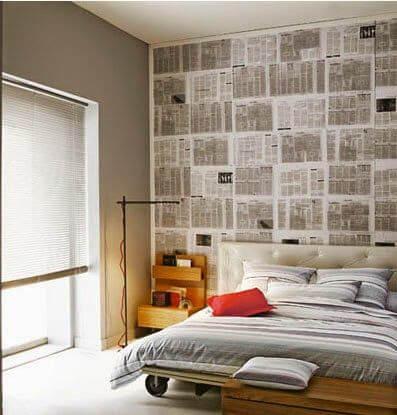 Papel de periódico para decorar