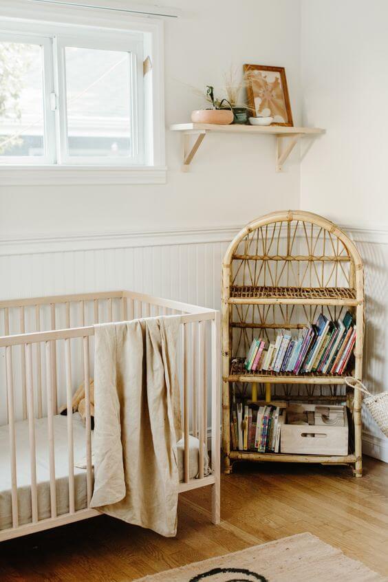 Habitación del bebé scandifornian