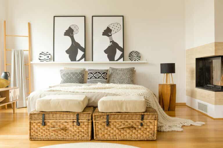 10 ideas para decorar el pie de cama