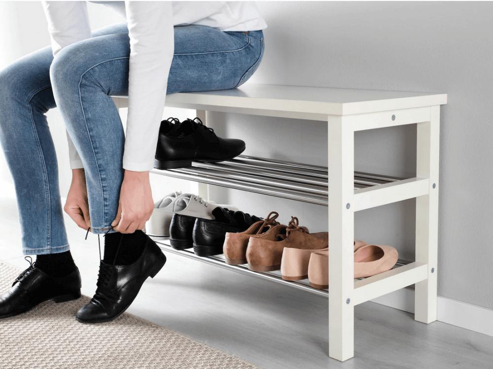 Banco para guardar zapatos