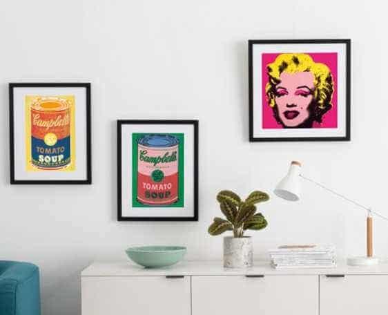 Artículos para el hogar basados en el arte de Andy Warhol