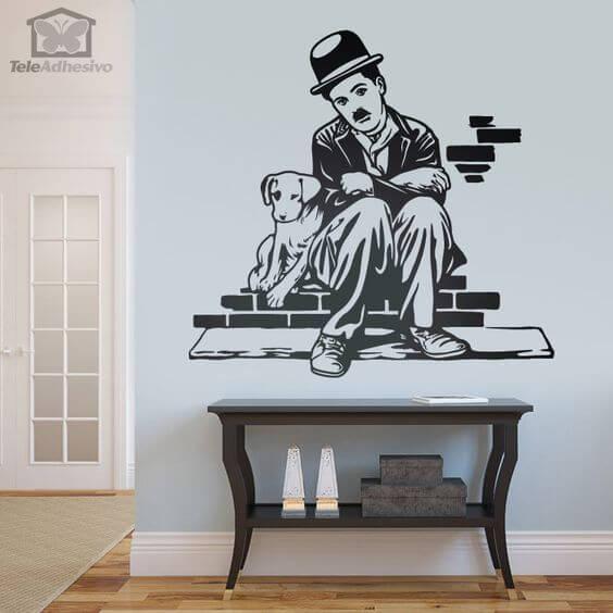 Charles Chaplin, vinilo decorativo