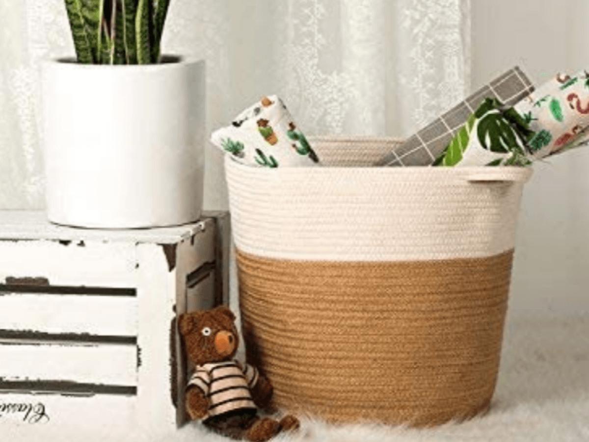 Recursos decorativos realizados con yute