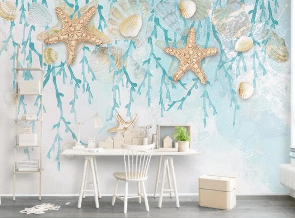 La estrella de mar como motivo decorativo para el hogar