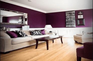 El uso del violeta berenjena en la decoración