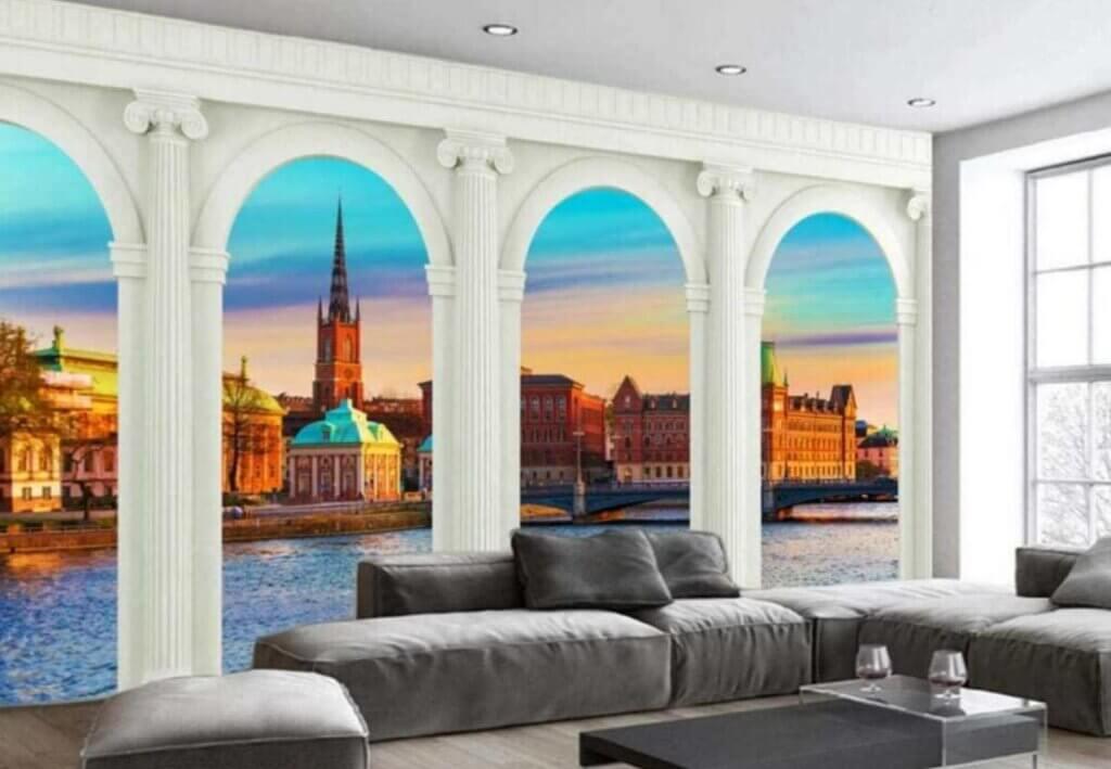 El salón con papel pintado, una nueva tendencia