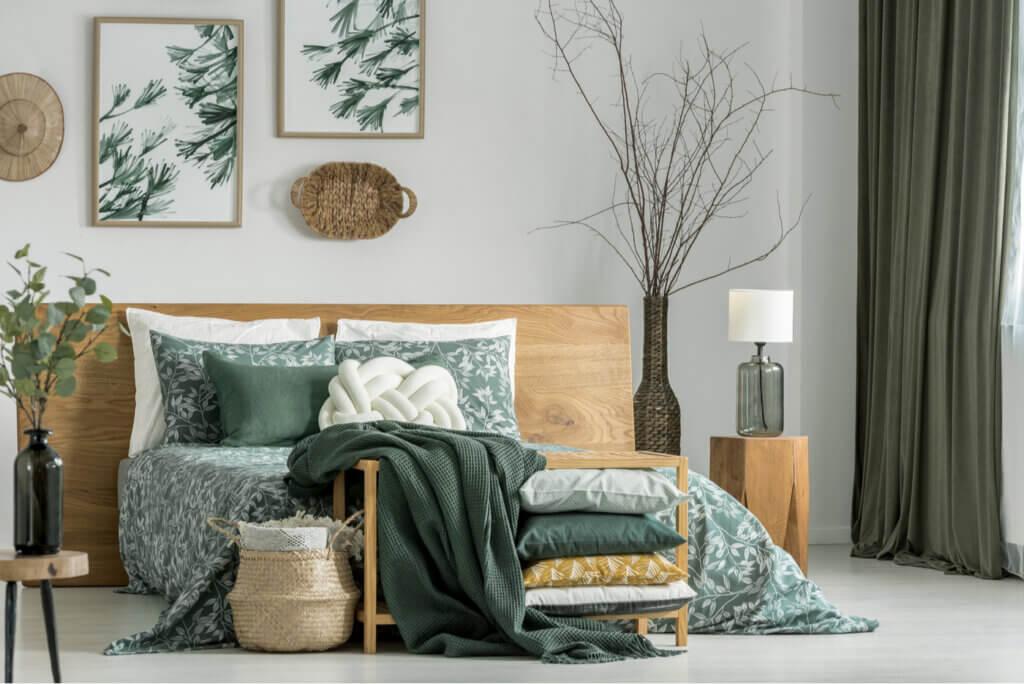 La relación entre el color verde y la madera